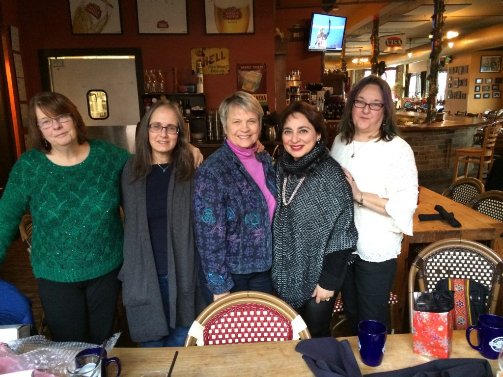 Writers Group - Elaine Bergstrom, Amy Waldman, Judy Bridges, Shauna Singh Baldwin, Annie Chase